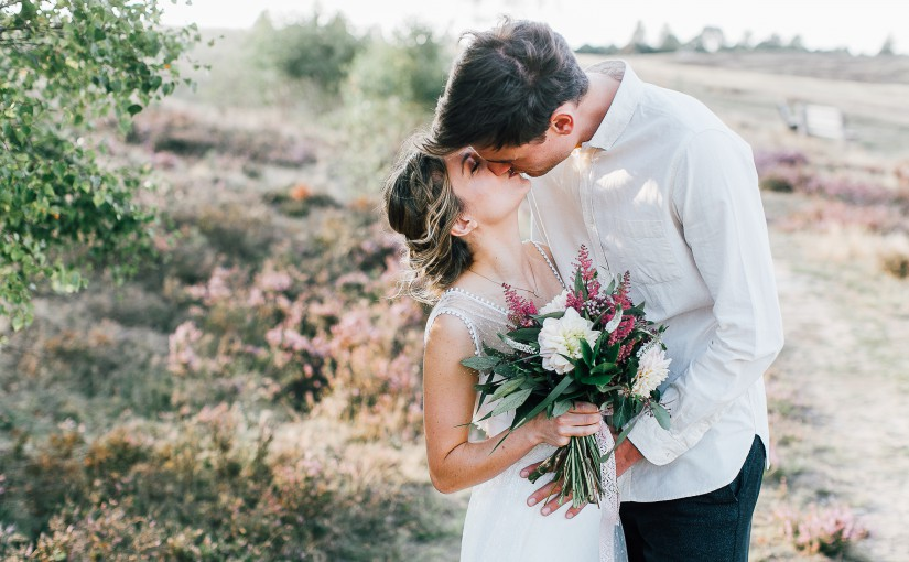 Boho wedding bride
